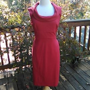 White House Black Market Red Sheath Dress